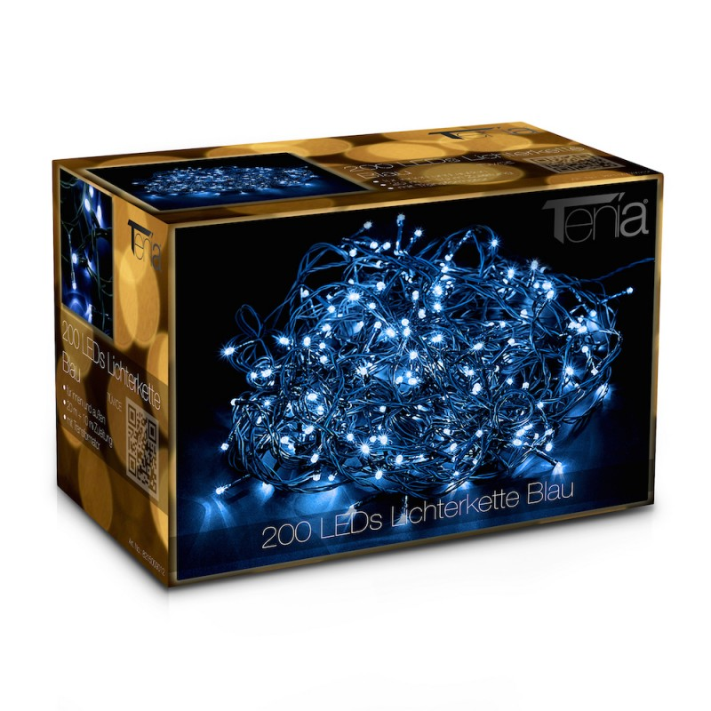 200 led lichterkette 20m blau au en weihnachten 12 w. Black Bedroom Furniture Sets. Home Design Ideas